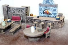 Game Terrain - Tavern Accessory Kit. $35.00, via Etsy.