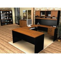 Innova U Desk Executive Office Suite - OFG-EX0096 and other Office and Computer Desks