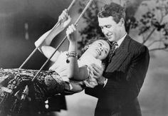 """Jimmy Stewart and Donna Reed photographed for """"It's a Wonderful Life"""""""