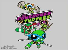 The Powerpuff Turtles T-Shirt - http://teecraze.com/the-powerpuff-turtles-t-shirt/ -  Designed by djkopet