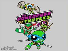 The Powerpuff Turtles T-Shirt - http://teecraze.com/the-powerpuff-turtles-t-shirt/ -  Designed by djkopet