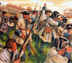 French line infantry firing at the Austrians at the Battle of Denain, War of the Spanish Succession