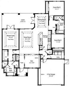 plan 33010zr split bedroom energy saver - Zero Energy Home Design Floor Plans