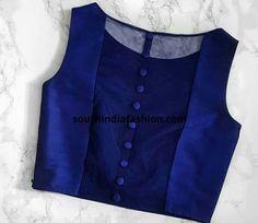 Latest saree blouse patterns for 2018 saree jacket designs Latest Saree Blouse, Saree Blouse Neck Designs, Saree Blouse Patterns, Fancy Blouse Designs, Designer Blouse Patterns, Latest Sarees, Saree Jacket Designs Latest, In Der Disco, Blouse Designs Catalogue