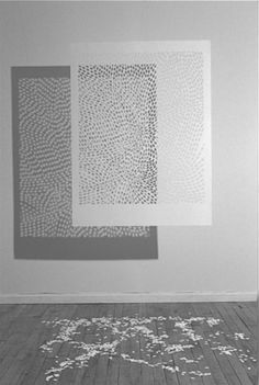 CARVED-PAPER PATTERNS OR LACES? by artist Jacqueline Belcher