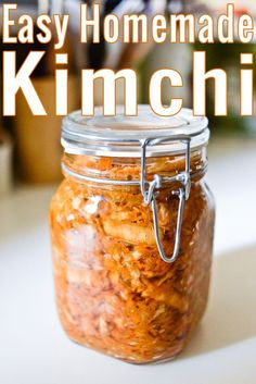 A simple flexible formula for easy homemade kimchi! The cornerstone of Korean cuisine and a fabulously healthy probiotic food you must add to your diet. Best Probiotic, Probiotic Foods, Fermented Foods, High Carb Foods, No Carb Diets, Paleo Recipes, Asian Recipes, Cooking Recipes, Asian Foods