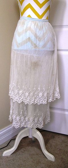 2 Layer Embroidered Net Slip or Petticoat by VictorianWardrobe, $35.00
