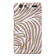 Inspired Zebra Print Light Rose Droid Razr case