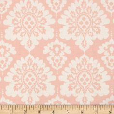 Riley Blake Lost and Found Love Laminate Damask Pink from @fabricdotcom  Designed by My Mind's Eye for Riley Blake, this laminated cotton print fabric meets the key provisions of the CPSIA (Comprehensive Consumer Product Safety Improvement Act of 2008). This fabric does not contain any lead or thyolate. Soft, protective film is laminated to the face of the fabric, its softness makes this cloth extremely pliable for fashion, and the durability combined with easy-care convenience (cleans up ...
