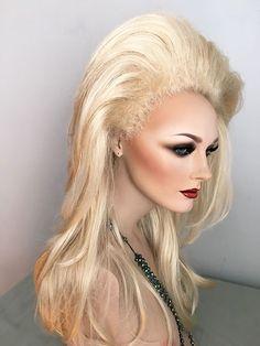 Rooted, Drag Queen, Wig, Pale Blonde, Big Hair, Custom Styled, Las Vegas