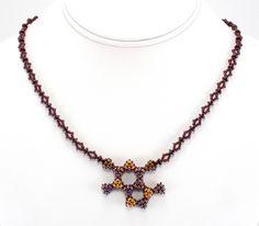 Bead Origami: Chocolate Molecule Necklace