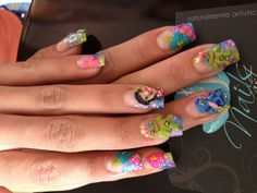 Nails art, lilo & stitch