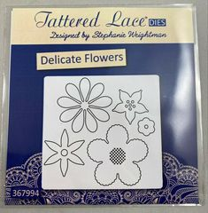 Tattered Lace Cutting Die Delicate Flowers D1220 #TatteredLace Selling On Ebay, My Ebay, Delicate, Lace, Flowers, Design, Racing, Royal Icing Flowers