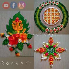 Rangoli Designs Latest, Rangoli Designs Simple Diwali, Rangoli Designs Flower, Small Rangoli Design, Rangoli Border Designs, Colorful Rangoli Designs, Flower Rangoli, Beautiful Rangoli Designs, Mehndi Designs