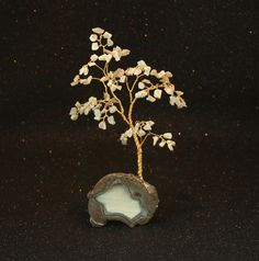 Opal Gem Tree on Thunderegg Geode. Simply Majestic !