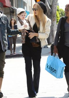 Rachel Zoe shopping at Kitson this past weekend.