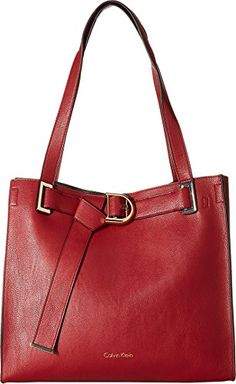 72f4728bdb Calvin Klein Women's Nola Jetlink Tote Red/Black One Size >>&gt