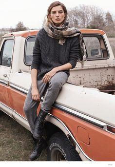 daria werbowy for mango fall winter 2014 campaign 5 Daria Werbowy, News Fashion, Look Fashion, Fashion Design, Fall Fashion, Mango Fashion, Classy Fashion, Fall Winter 2014, Autumn Winter Fashion