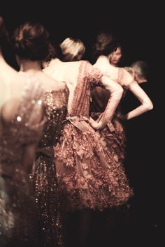 Elie Saab - Spring/Summer 2012 Haute Couture, Backstage ~ Looks like a Degas painting!