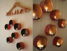 DIY Fun And Easy Crafts Ideas For Weekend to make with spare and used things at home. Step by step tutorials to make easy DIY crafts Diwali Decoration Lights, Diya Decoration Ideas, Diwali Decorations At Home, Christmas Decorations, Decor Ideas, Craft Ideas, Easy Home Decor, Diy Home Crafts, Easy Diy Crafts