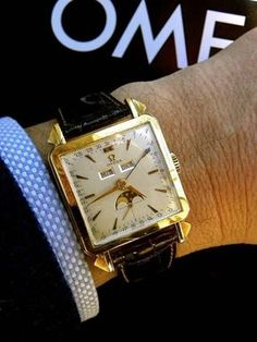Omega Triple-Date Moonphase 18K Gold Watch