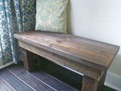 Rustic Wooden Bench  Small by TipsyFish on Etsy, $90.00