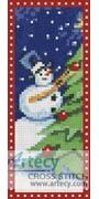 Snow Man Bookmark Counted Cross Stitch Pattern http://www.artecyshop.com/index.php?main_page=product_info&cPath=26&products_id=1177
