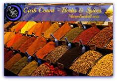 Those pesky carbs hide EVERYWHERE! Here's a GREAT list of carbs in herbs & spices! REPIN it to keep handy! http://margeburkell.com/feel-great/carb-count-herbs-spices/  What's YOUR favorite go-to spice?