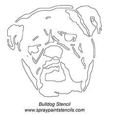 English Bulldog Pumpkin Stencil