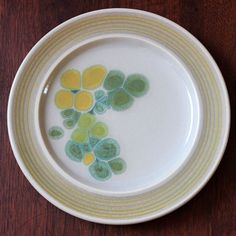 Pebble Beach. Mid century modern Franciscan China salad plate.