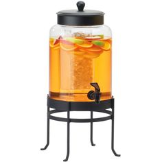 10W x 12D x 24.5H Soho Glass Beverage Dispenser 3 Gallon Black Base
