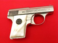 WALTHER ~ MODEL 9 Pre-WWII Factory Engraved Nickel Pearls...Cased...C&R Item: 11213075 | Mobile GunAuction.comLoading that magazine is a pain! Get your Magazine speedloader today! http://www.amazon.com/shops/raeind