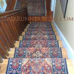 Our Latest Karastan Stair Runner Installation. The Landing Was Treated With  A Coordinate Area Rug. All Photos Are Actual Fabrication And Installatiu2026