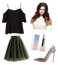 """Untitled #3"" by andraconstantinescu on Polyvore featuring Chicwish, Christian Louboutin and Sephora Collection"