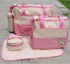 7 Colors 5PCS/Set Diaper Bag