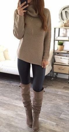 Casual fall fashions trend inspirations 2017 34 >>> Check out the image by visiting the link. : Casual fall fashions trend inspirations 2017 34 >>> Check out the image by visiting the link. Winter Outfits For Teen Girls, Chic Winter Outfits, Winter Outfits For Work, Casual Fall Outfits, Fall Fashion Trends, Winter Fashion Outfits, Look Fashion, Autumn Fashion, Outfit Winter