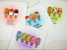 Follow along as special guest Kelly Latevola takes us through this quartet of sweet popsicle treat cards! For photo stills, and more information please visit...