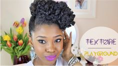 Laila-Jean (@NeffyFroFro) of Fusion of Cultures creates a textured updo using Entwine Couture products