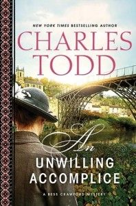 An Unwilling Accomplice by Charles Todd Review & printable discussion questions. An enjoyable and elegant mystery reminiscent of a Sherlock Holmes story. Travel the World in Books to England during WWI with this clever mystery. 3*