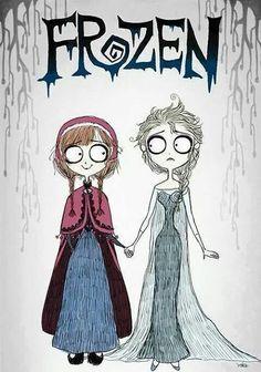 Frozen Tim Burton style