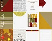 Grateful Collection 3x4 Digital Cards Printable File Included November Thankful Thanksgiving Family