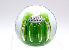 Blenko Art Glass Paperweight with Original Tag by WdWsDesignTrends, $69.99