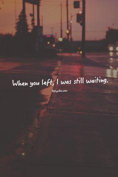 I was still waiting.