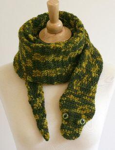 Crocheting: Snake Scarf Crochet Pattern