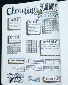 "807 Likes, 41 Comments - Micah (@my_blue_sky_design) on Instagram: ""Cleaning Schedule Spread - 2017 I've been wanting to make a #cleaning schedule for weeks! I'm so…"""