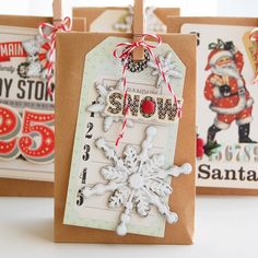 a house of cards: Countdown to Christmas: Quick & Easy Tags