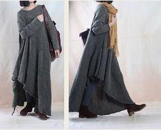 oversized women cotton long sweater loose sweater knitwear winter sweater dress cotton blouse tops coat autumn clothing