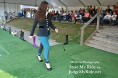 Zone 4 Hunter Jumper rider Sawyer Evans models an Arista Technical coat and HKM breeches.  See full galleries on Stylemyride.net #Equestrianfashion, #Equestrain, #fashion