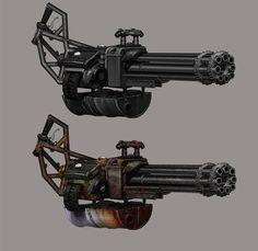 Homemade Mini Gun, Ben Hughes on ArtStation at http://www.artstation.com/artwork/homemade-mini-gun