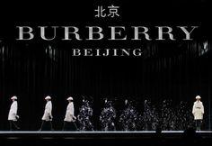 défilé Burberry-Beijing en Hologrammes Runway-Show